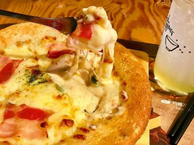 팬디저트 2탄!  까르보나라 떡볶이 피자 !