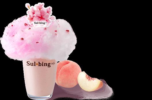 벚꽃피치요거트 스무디 이미지